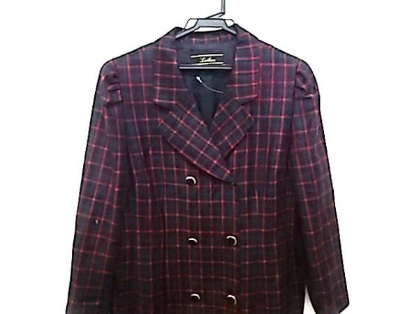 Leilian(レリアン) ジャケット サイズ13+ S レディース 黒×グリーン×レッド