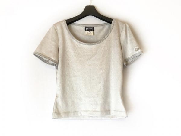 ジャンフランコフェレ 半袖カットソー サイズM レディース美品  シルバー jeans