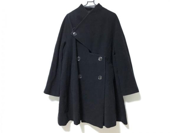 Y's(ワイズ) コート レディース新品同様  黒 変形デザイン/冬物