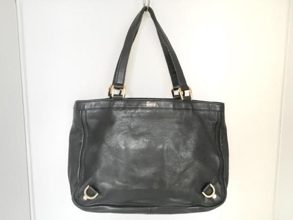 グッチ ショルダーバッグ - 170004 黒×ゴールド レザー×金属素材 1