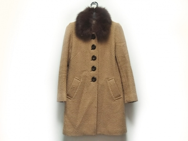 リッチミーニューヨーク コート サイズ38 M レディース ブラウン 冬物/ファー