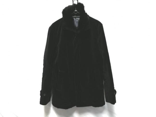 INEDHOMME(イネドオム) コート サイズ2 M メンズ美品  黒 ファー/冬物/ベロア