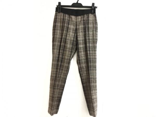 M・Fil(エムフィル) パンツ サイズ40 M レディース美品  ダークブラウン×黒×マルチ