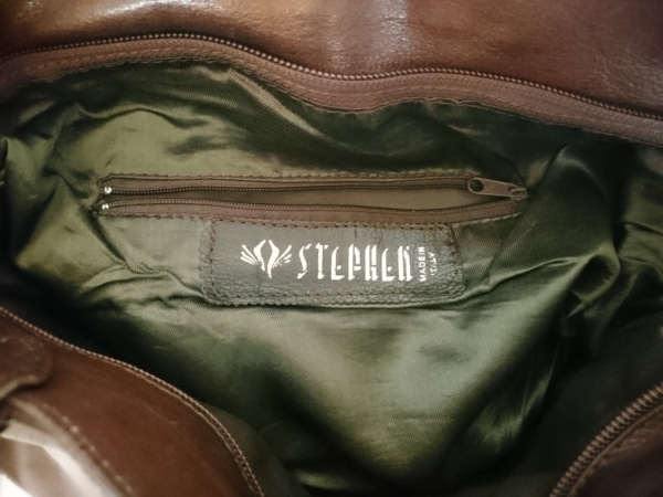 STEPHEN(ステファン) ショルダーバッグ ダークブラウン レザー