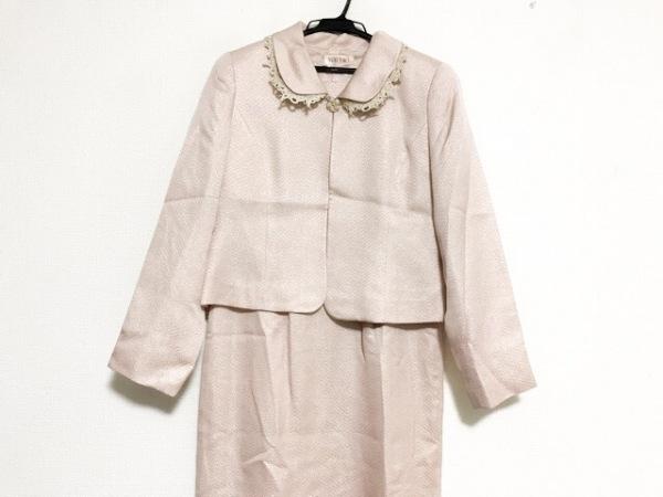 YUKITORII(ユキトリイ) ワンピーススーツ サイズ9 M レディース美品  ピンク ラメ