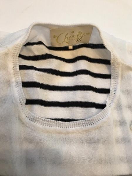 Chesty(チェスティ) 半袖カットソー サイズF レディース美品  アイボリー×黒