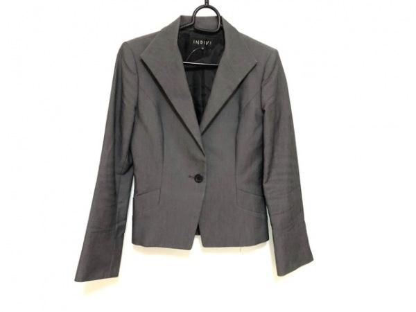 INDIVI(インディビ) ジャケット サイズ38 M レディース ダークグレー 肩パッド