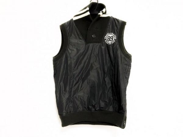 パーリーゲイツ ダウンベスト サイズ4 XL メンズ美品  黒×カーキ×白 冬物