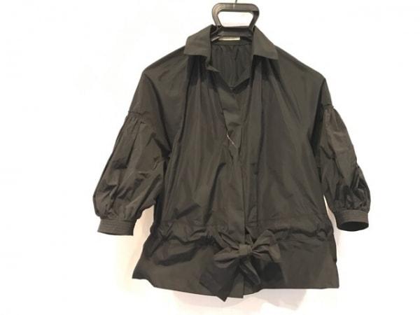 シンクロクロシング 七分袖シャツブラウス サイズ36 S レディース 黒