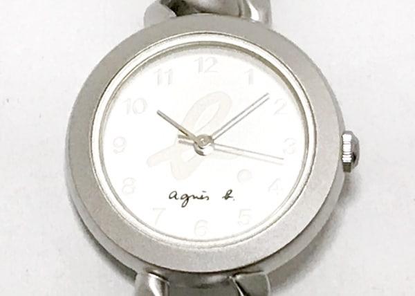 agnes b(アニエスベー) 腕時計美品  V401-0850 レディース シルバー