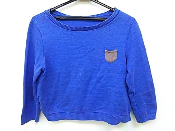 アンダーカバー 長袖セーター サイズ1 S レディース ブルー×ベージュ ラメ