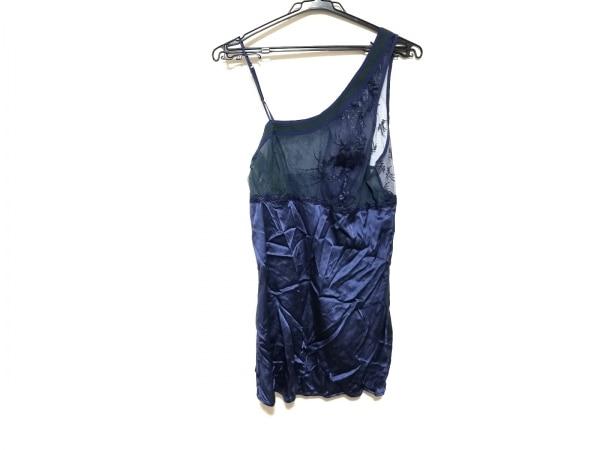 ラペルラ ワンピース サイズ2 M レディース美品  ブルー×グリーン 刺繍/シースルー