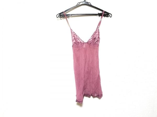 LAPERLA(ラペルラ) ワンピース サイズ2 M レディース美品  ピンク シースルー/刺繍