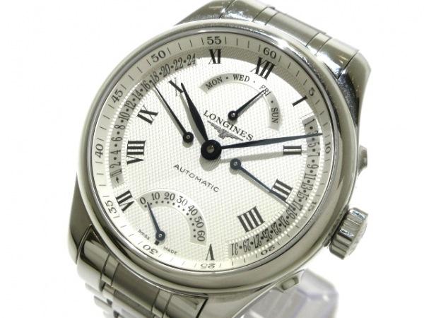 ロンジン 腕時計 マスターコレクション4レトログラード L2.715.4 メンズ SS/裏スケ 白