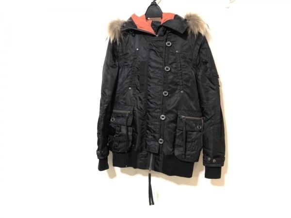 AVIREX(アビレックス) ブルゾン レディース 黒 冬物/ジップアップ/袖取り外し可