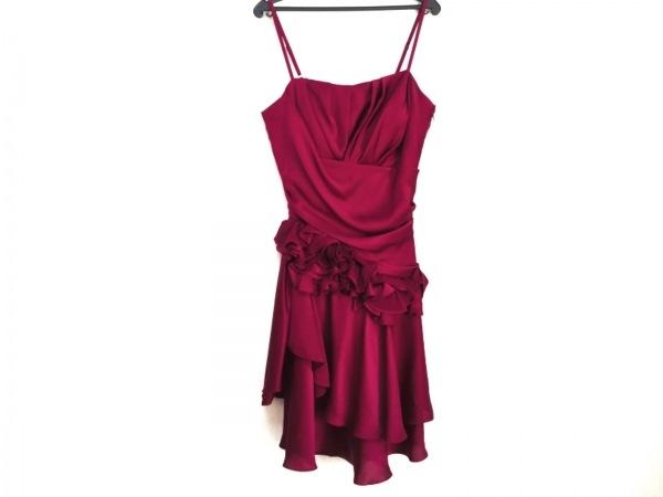 GENETVIVIEN(ジュネビビアン) ドレス サイズ9 M レディース ボルドー ギャザー/フリル
