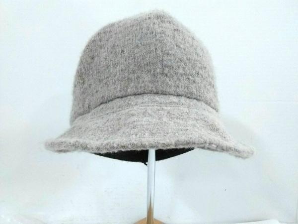 CA4LA(カシラ) 帽子 ベージュ アクリル×ナイロン×ウール