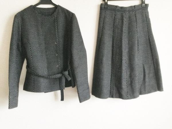 BALLSEY(ボールジー) スカートスーツ レディース 黒×白 ドット柄