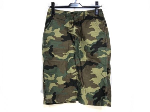 シンゾーン スカート サイズ36 S レディース ダークグリーン×ダークブラウン×黒