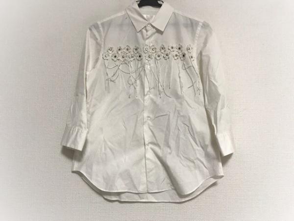 コムデギャルソンノワールケイニノミヤ 七分袖シャツブラウス サイズXS レディース 白