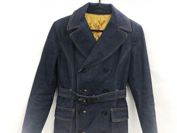 ピンキー&ダイアン コート サイズ38 M レディース美品  ネイビー Jeans/冬物