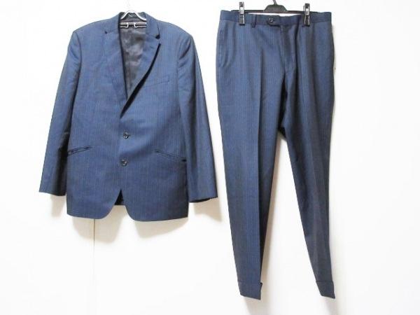 VISARUNO(ビサルノ) シングルスーツ メンズ ダークネイビー×ネイビー ストライプ