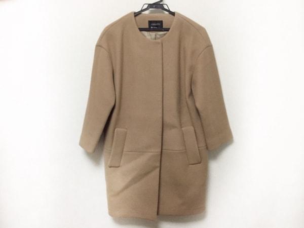 JUSGLITTY(ジャスグリッティー) コート サイズ2 M レディース美品  ブラウン 冬物