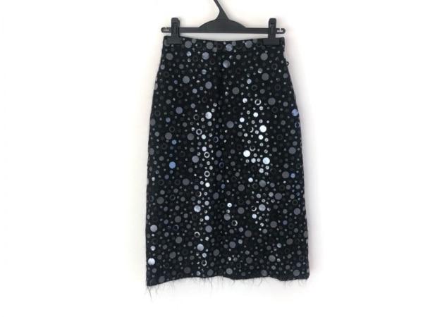 アンドリューゲン ロングスカート サイズXS レディース美品  黒 スパンコール