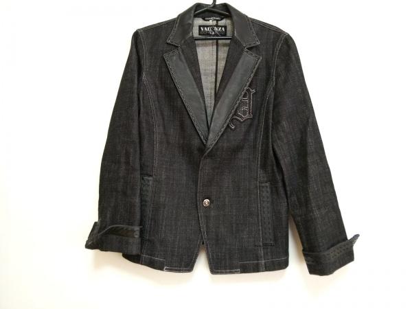 バレンザスポーツ ジャケット サイズ38 M レディース美品  黒 デニム/ラインストーン