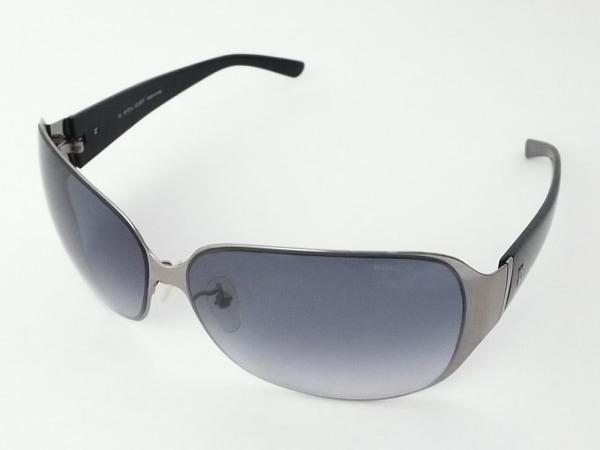 POLICE(ポリス) サングラス S8323G 黒×シルバー プラスチック×金属素材