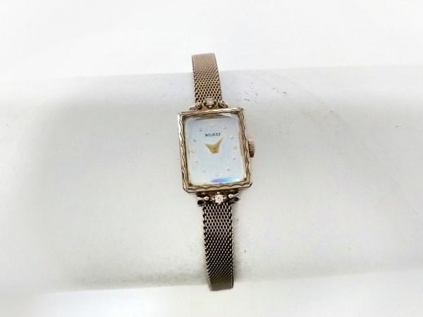 ノジェス 腕時計 580055 レディース シェル文字盤/ラインストーン シェルホワイト