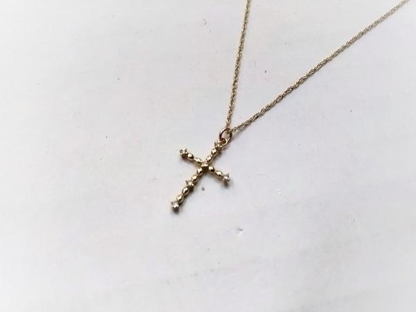 Arpege(アルページュ) ネックレス美品  K10×ダイヤモンド 0.03ct/クロス