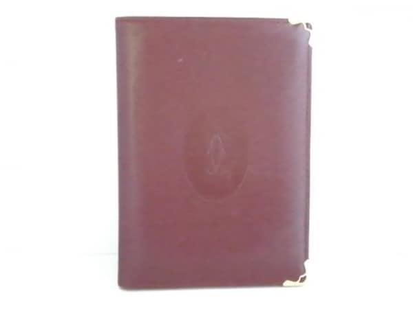 Cartier(カルティエ) 小物入れ マストライン ボルドー パスポートケース レザー