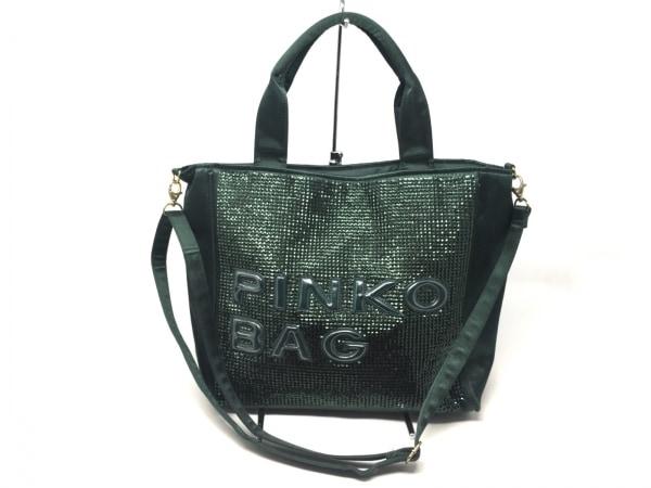 PINKO(ピンコ) トートバッグ グリーン スパンコール ナイロン