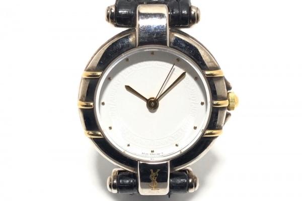 YvesSaintLaurent(サンローラン) 腕時計 4630-E63492Y レディース 革ベルト 白