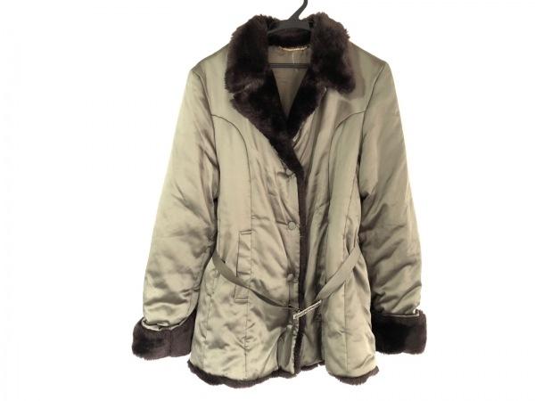 アンナモリナーリ コート サイズ40 M レディース カーキ×ダークブラウン 冬物