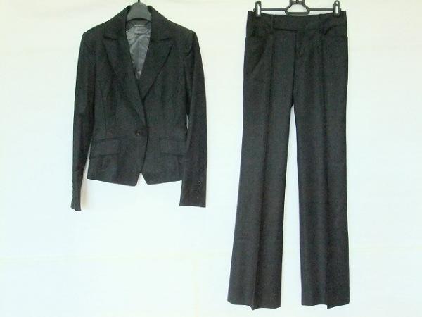 ピンキー&ダイアン レディースパンツスーツ サイズ36 S レディース 黒×ダークグレー