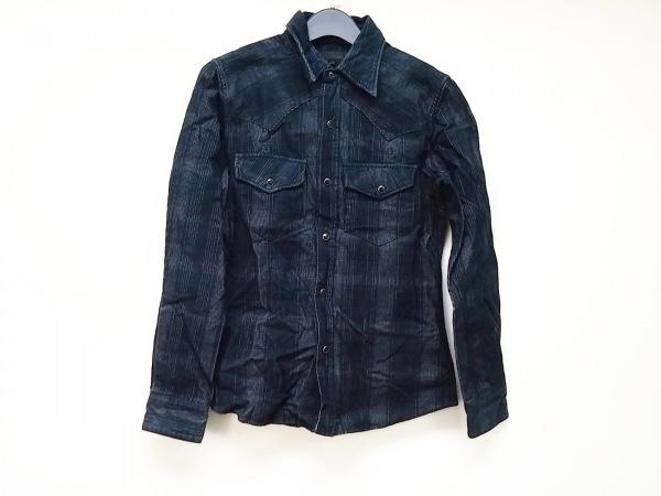 LITHIUMHOMME(リチウムオム) 長袖シャツ サイズ3 L メンズ ネイビー×グレー