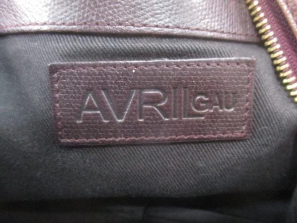 AVRIL GAU(アヴリルガウ) ショルダーバッグ ダークブラウン レザー