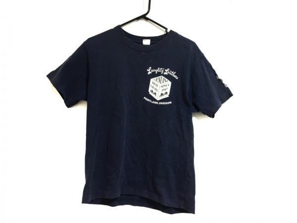 Langlitz Leathers(ラングリッツレザー) 半袖Tシャツ メンズ ネイビー
