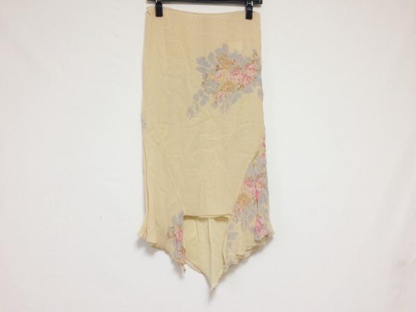アンナモリナーリ スカート サイズ40 ( I ) レディース美品  花柄/シースルー