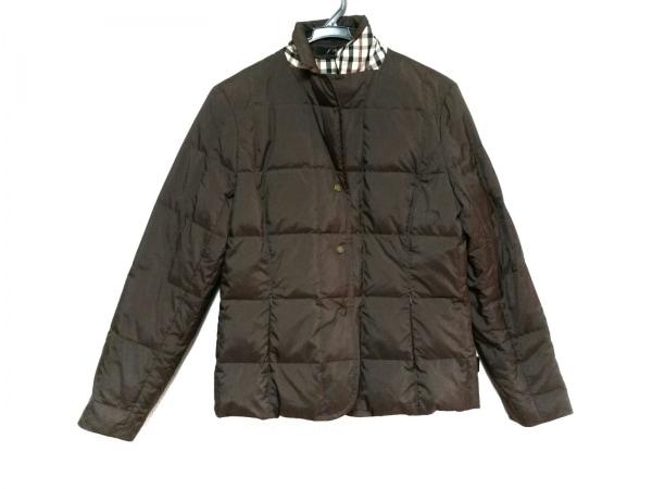 DAKS(ダックス) ダウンジャケット サイズ38 L レディース美品  ダークブラウン 冬物