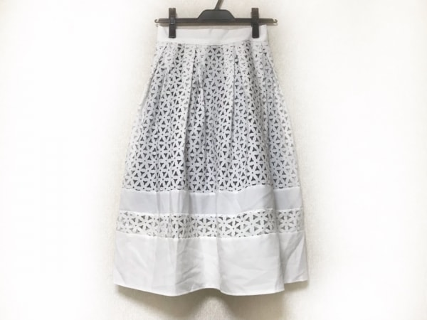 Annette(アネット) スカート レディース 白×黒×グレー ストライプ/レース/花柄