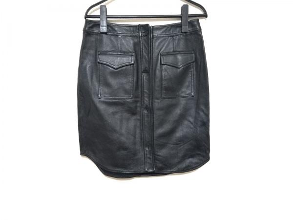 オープニングセレモニー 巻きスカート サイズ2 M レディース美品  黒 レザー