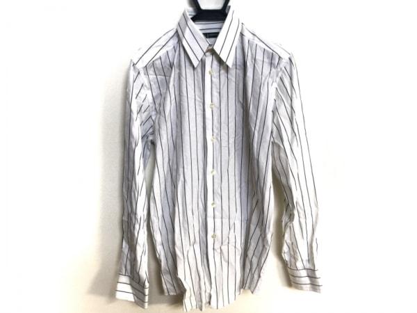 ドルチェアンドガッバーナ 長袖シャツ サイズ40 M メンズ 白×黒 ストライプ