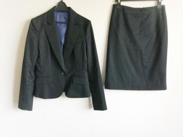 ru(アールユー) スカートスーツ サイズ2 M レディース 黒 ストライプ/PLAIN