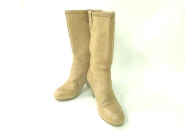 NINE WEST(ナインウエスト) ブーツ 5 1/2 レディース ベージュ レザー