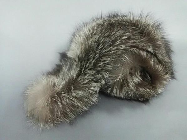 SAGA FOX(サガフォックス) マフラー新品同様  ダークブラウン×アイボリー ティペット
