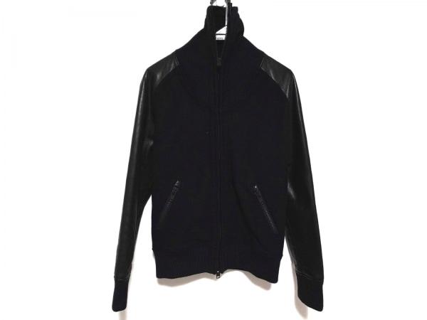 リップヴァンウィンクル ブルゾン サイズ3 L メンズ美品  黒 冬物/袖・レザー