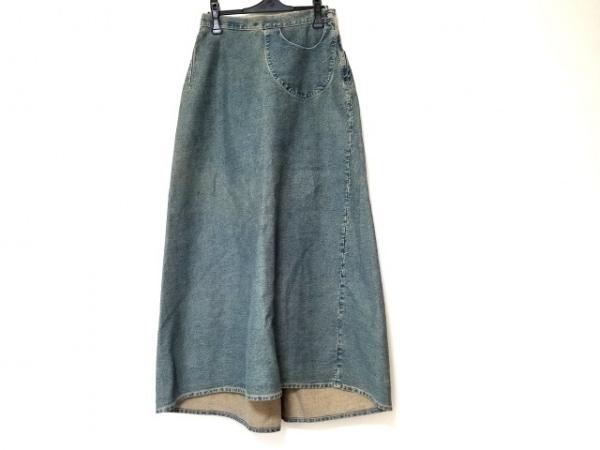 HANNOH(アノー) ロングスカート サイズ38 M レディース美品  ブルー デニム/ロング丈